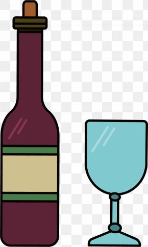 Purple Wine Vector - Wine Bottle Euclidean Vector Transparency And Translucency PNG