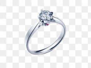 I,DO Prong Ring - Ring Diamond Platinum PNG