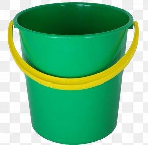 Plastic Green Bucket Image - Bucket Plastic PNG