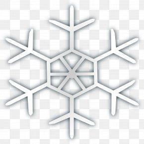 Silver Snowflake Winter - Snowflake Symbol Clip Art PNG
