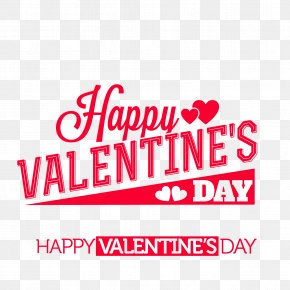 Happy Valentine's Day - Valentine's Day Typeface Font PNG