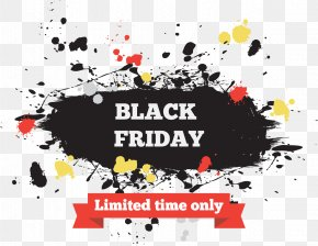Vector Ink Splash Black Friday - Black Friday Ink PNG