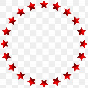 Red Simplified Star Circle - Stock Photography Circle PNG