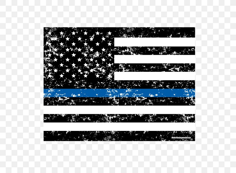 Flag Of The United States Thin Blue Line The Thin Red Line Police Officer, PNG, 600x600px, United States, Black, Black And White, Decal, Flag Download Free