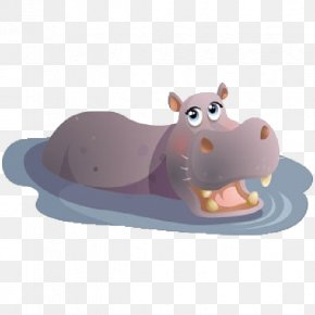 Cute Hippo Cliparts - Hippopotamus Rhino Vs. Hippo Clip Art PNG