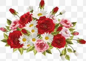 Pink Family Annual Plant - Bouquet Of Flowers Drawing PNG