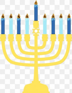Hanukkah Menorah Dreidel Holiday Judaism PNG