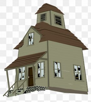 Haunted House Vector Clipart - Haunted House Ghost PNG