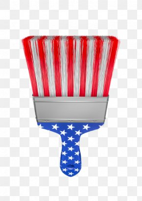 American Flag Paint Brush - Flag Of The United States Independence Day Paintbrush PNG