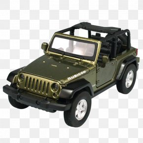 Army Green Jeep Wrangler Toy Car - Jeep Wrangler Car Sport Utility Vehicle PNG