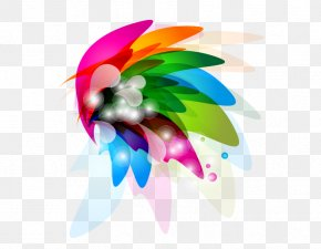 Colorful Abstract Flower Petals - Petal Abstraction Flower PNG