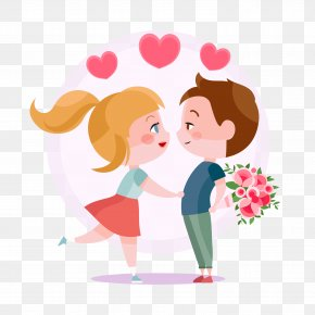 Wedding Cartoon Download - Valentines Day Love Gift February 14 Couple PNG