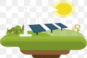 Decorative Solar And Wind Energy - Solar Energy Wind Power Solar Power Renewable Energy PNG