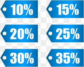 Blue Discount Tags Set Part 1 Transparent Image - Icon Discounting Clip Art PNG