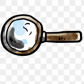 Watercolor Drawing Magnifying Glass Vector - Magnifying Glass Drawing Computer File PNG