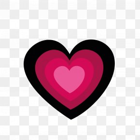 Graphic Design - Magenta Maroon Heart Love PNG