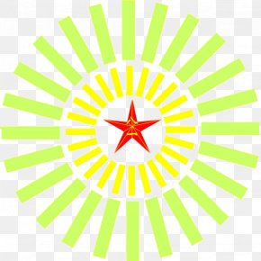 Five-pointed Star Red Eight One - Red Yellow Five-pointed Star PNG