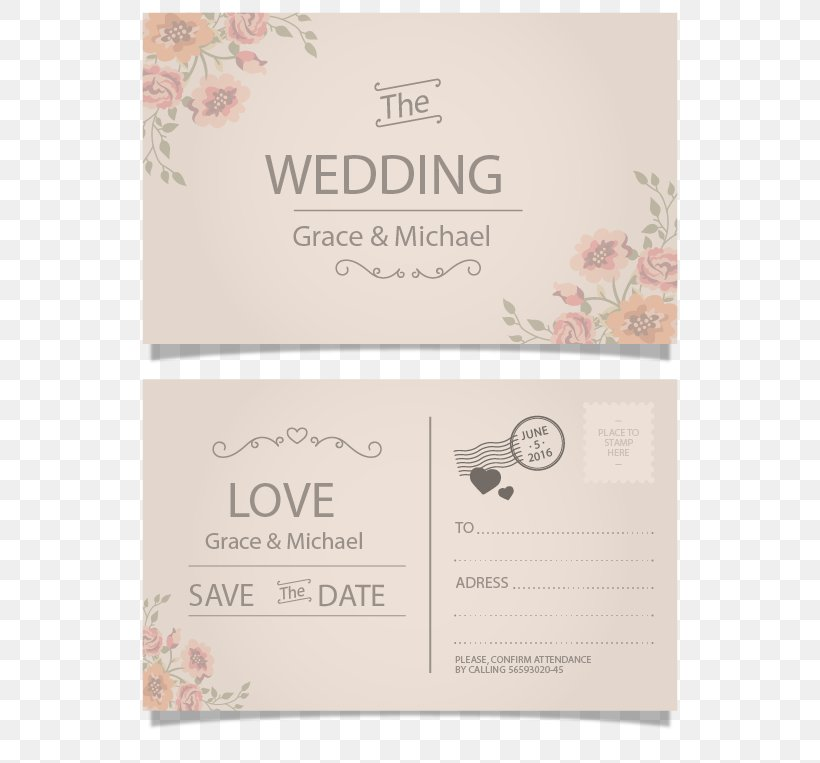 Wedding Invitation Postcard Paper Greeting Card Png
