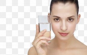 Skin Moisturizing Skin Care Model - Cup Drinking Glass Face Hand PNG