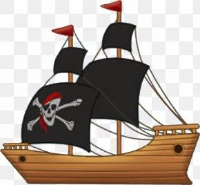 Pirate Ship Sailing - Ship Piracy Clip Art PNG