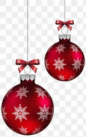 Red Christmas Balls Decoration Clipart Image - Christmas Ornament Icon Clip Art PNG