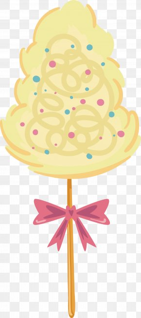 Yellow Lovely Cotton Candy - Cotton Candy Icing Sugar PNG