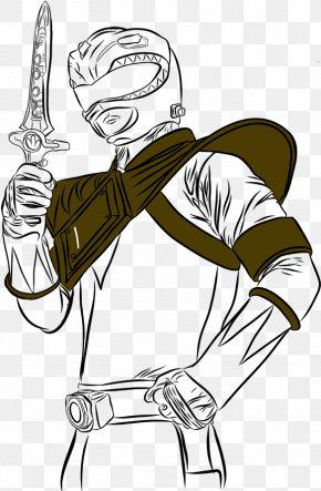 Pillar Of Strength Cartoon No Yaiba - Tommy Oliver Drawing Line Art Illustration PNG