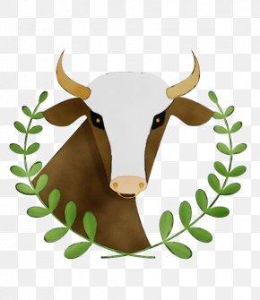 Texas Longhorn Ox - Horn Bovine Green Head Cow-goat Family PNG
