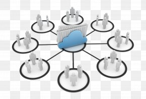 Cloud Users Share Information - Information Exchange File Sharing Clip Art PNG
