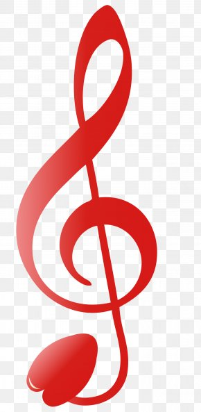 Red Musical Note - Clef Musical Note Treble Sol Anahtaru0131 PNG