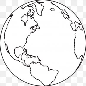 Black And White Earth - Earth Black And White Clip Art PNG