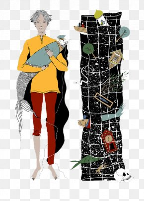 The Boy Holding The Fish - Human Behavior Shoulder Costume Illustration PNG