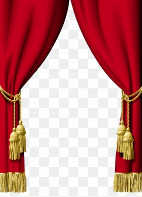 Red Curtains - Curtain Interior Design Services Clip Art PNG