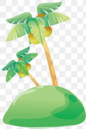 Green Coconut Tree Vector - Presentation Slide Show PNG