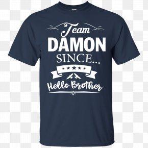T-shirt - T-shirt Damon Salvatore Hoodie Top PNG