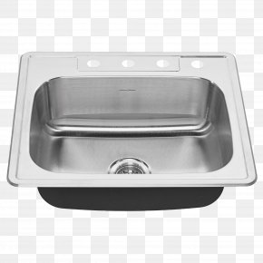 Sink - Sink American Standard Brands Stainless Steel Kitchen Tap PNG