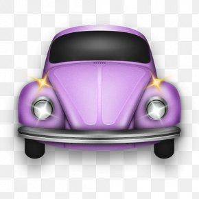 Beetle Rose - Automotive Exterior Compact Car Purple PNG