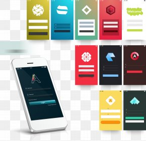 White Smartphone APP Introduction Layout Pictures - Responsive Web Design Mobile App Graphical User Interface Icon PNG