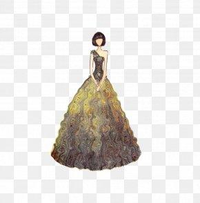 Hand-painted Dresses - Wedding Dress Fashion Designer Illustration PNG