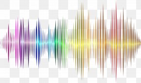 Vector Rainbow Sound Wave Curve Picture - Wallpaper PNG