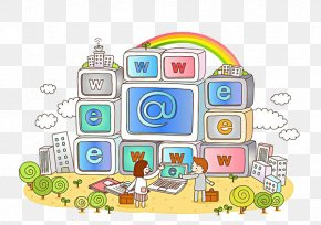 Internet City - Internet Symbol Illustration PNG