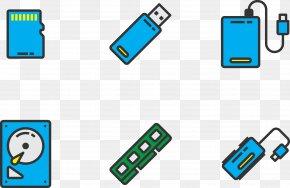 USB Storage Card - Euclidean Vector Electronics USB Brand PNG