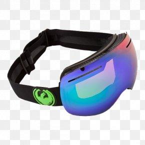 Dragon Goggles - Dragon X1s Goggles Sunglasses PNG
