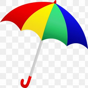 Rain Colorful Umbrella - Colorful Background PNG