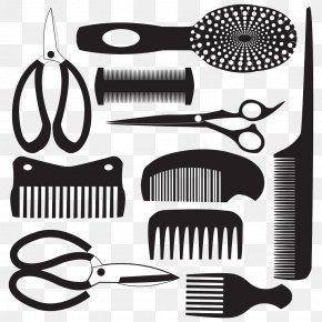 Comb And Scissors Pictures - Comb Royalty-free Hairdresser Clip Art PNG