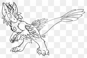 Drawing Angel - Line Art Velociraptor Drawing Furry Fandom Toronto Raptors PNG