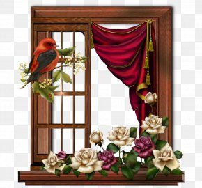 At The Door - Picture Frames Window Image Clip Art Floral Design PNG
