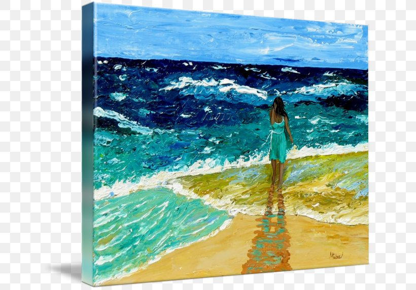 Acrylic Paint Painting Daytona Beach, PNG, 650x573px, Acrylic Paint, Aqua, Art, Beach, Canvas Download Free