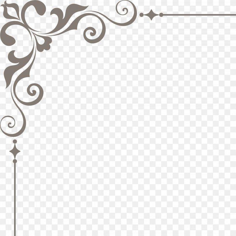Wedding Gratis Computer File, PNG, 4493x4493px, Vecteur, Area, Black And White, Lace Corner, Medal Download Free