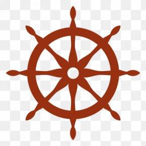 Ship - Ship's Wheel Steering Wheel Boat PNG